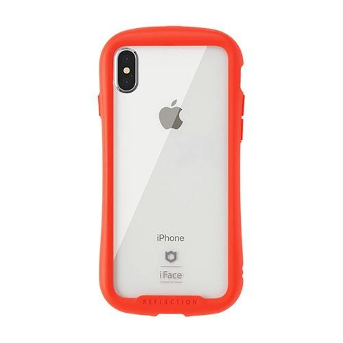 HAMEEハミィ[iPhoneXS/X専用]iFaceReflection強化ガラスクリアケース41-907184レッド