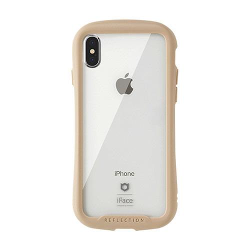 HAMEEハミィ[iPhoneXS/X専用]iFaceReflection強化ガラスクリアケース41-907191ベージュ