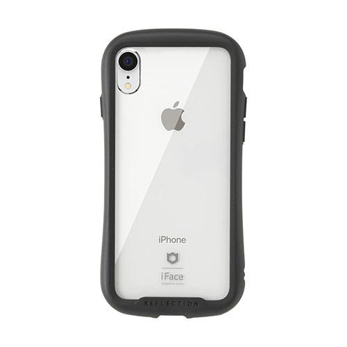 HAMEEハミィ[iPhoneXR専用]iFaceReflection強化ガラスクリアケース41-907207ブラック