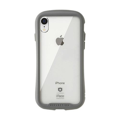HAMEEハミィ[iPhoneXR専用]iFaceReflection強化ガラスクリアケース41-907214グレー