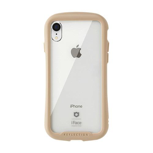 HAMEEハミィ[iPhoneXR専用]iFaceReflection強化ガラスクリアケース41-907245ベージュ
