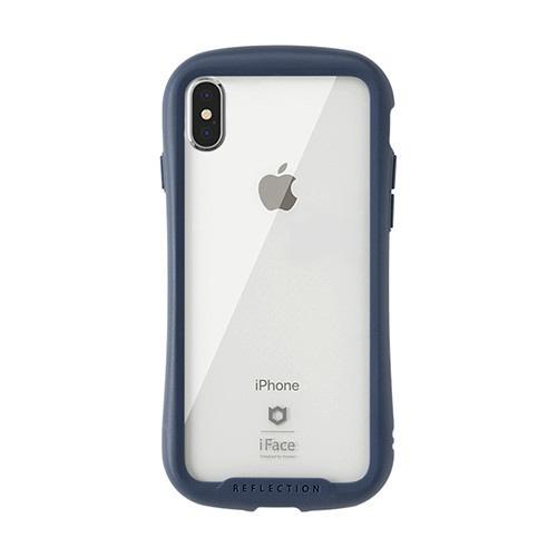 HAMEEハミィ[iPhoneXSMax専用]iFaceReflection強化ガラスクリアケース41-907276ネイビー