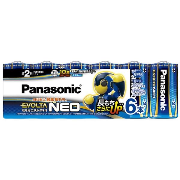 パナソニックPanasonicLR14NJ/6SW単2電池EVOLTANEO(エボルタネオ)[6本/アルカリ]