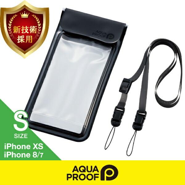 エレコムELECOMスマートフォン用防水・防塵ケース水中タッチ可能SサイズブラックP-WPST01BK