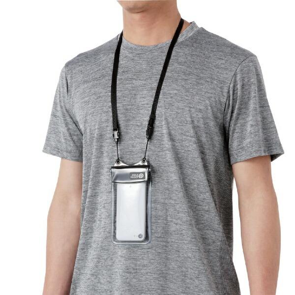 エレコムELECOMスマートフォン用防水・防塵ケースオールクリアSサイズブラックPCWPSAC01BK