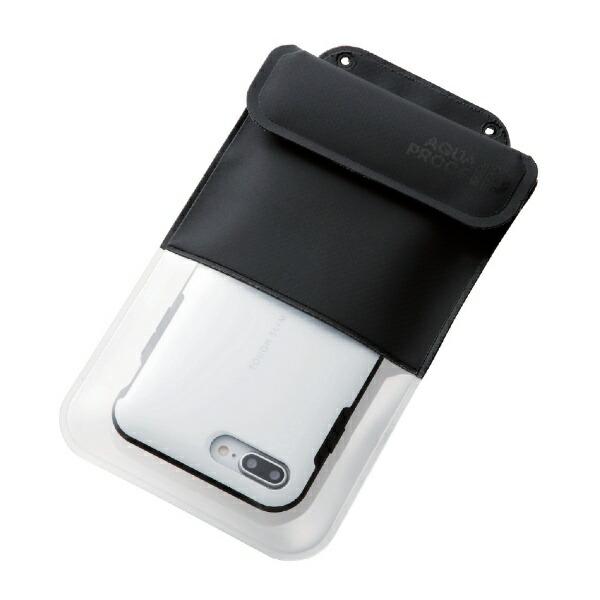 エレコムELECOMスマートフォン用防水・防塵ケースポケット付XLサイズブラックPCWPSP03BK
