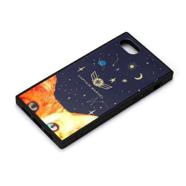 PGAiPhone8/7/6s/6用ガラスハイブリッドケースPG-DCS727NVキャプテン・マーベル/ネイビー