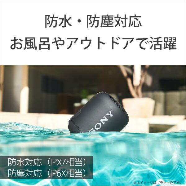 ソニーSONYワイヤレスポータブルスピーカーSRS-XB12[Bluetooth対応/防水][ソニーワイヤレススピーカー]