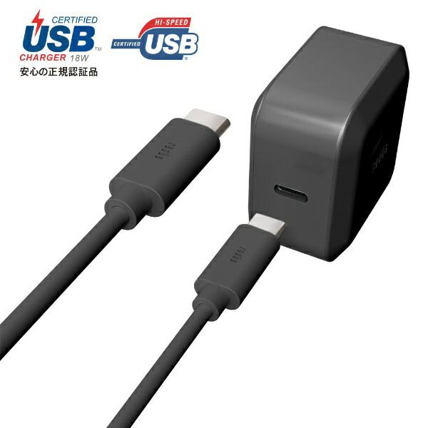 ラディウスradiusUSB-PD対応USB-C分離ACアダプターType-CCable1.0m付属RK-UPA18KRK-UPA18Kブラック[1.0m/USBPowerDelivery対応]