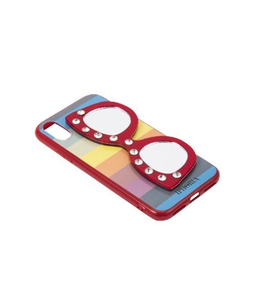 IPHORIAアイフォリアRainbowDiamondWithGlassesforiPhoneX/XSレインボーダイアモンドウィズグラッシーズ16236