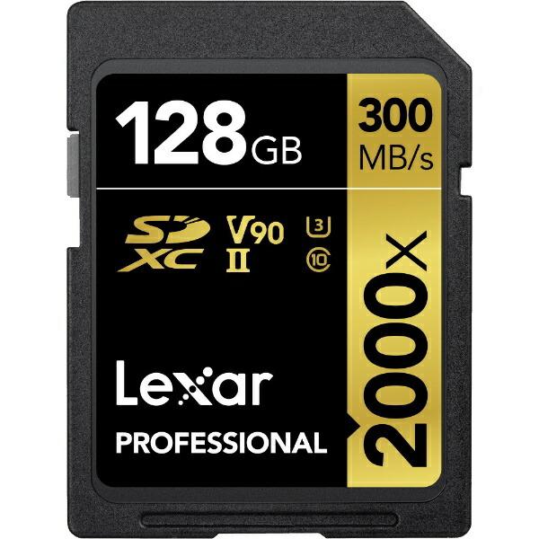 LEXARSDXCカードLexarProfessionalLSD128CBJP2000R[128GB/Class10][LSD128CBJP2000R]
