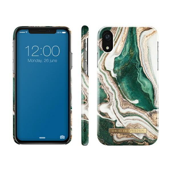 IDEALOFSWEDENiPhoneXR用ケースゴールデンジェイドマーブルIDFCAW18-I1861-98