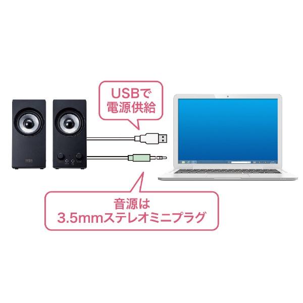 サンワサプライSANWASUPPLYMM-SPL16UBKマルチメディアスピーカー[USB電源/2.0ch]