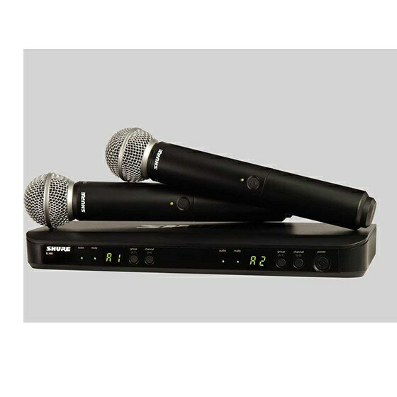 SHUREシュアーデュアルチャンネルハンドヘルド型ワイヤレスシステム(2本)BLX288/BETA58BLX288J/B58-JB