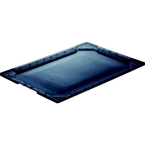 トラスコ中山TRUSCO薄型折りたたみコンテナスケルTSK−O50用フタ透明ブラックTSK-O50F-BK