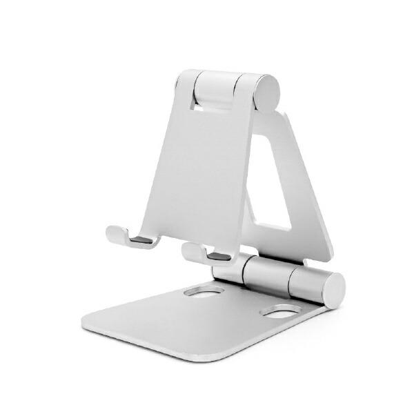 ARCHISSアーキススマホスタンド折りたたみ持ち運び便利自由な角度小型/軽量シルバーAS-MWBM-SL