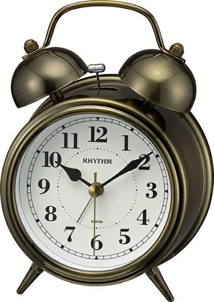 リズム時計RHYTHM目覚まし時計【コールマンB06】金色イブシ仕上げ(白)8RAA06SR63[アナログ]