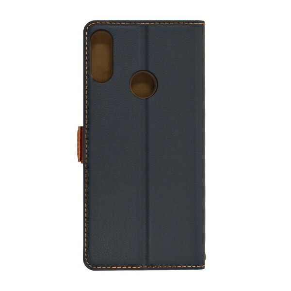 ラスタバナナRastaBananaZenFoneMaxPro(M2)(ZB631KL)薄型手帳ケースサイドマグネット4851631KLBOネイビー×ブラウン