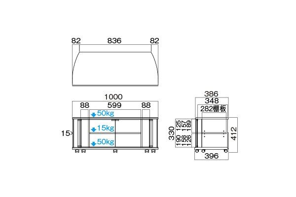 ハヤミ工産HayamiIndustryテレビスタンドTV-MS100H32-43V向けTV-MS100H[TVMS100H]