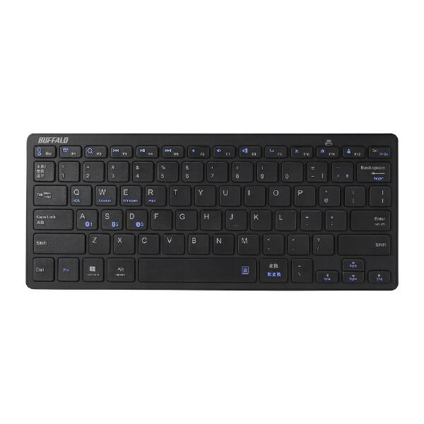 BUFFALOバッファローBSKBB318BKキーボードブラック[Bluetooth/ワイヤレス][BSKBB318BK]