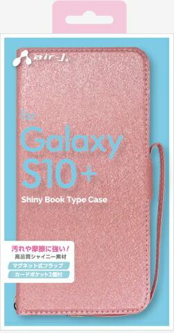 エアージェイair-JGalaxyS10+シャイニー手帳型ケースPKACS10PSHYPK
