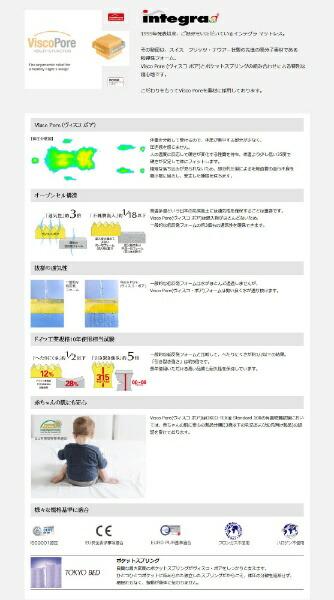 東京ベッドTOKYOBED【マットレス】インテグラグランデツークィーン(セミシングルサイズ)【受注生産につきキャンセル・返品不可】