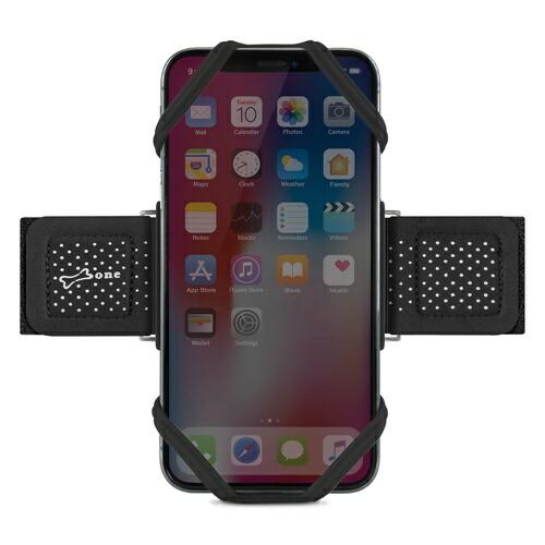 AREAエアリアBoneCollection4〜6.5インチ(iPhoneXsMax対応)スマホ用アームバンドRunTieSサイズ(主に女性の方におすすめなサイズ)PH18501-BKブラック