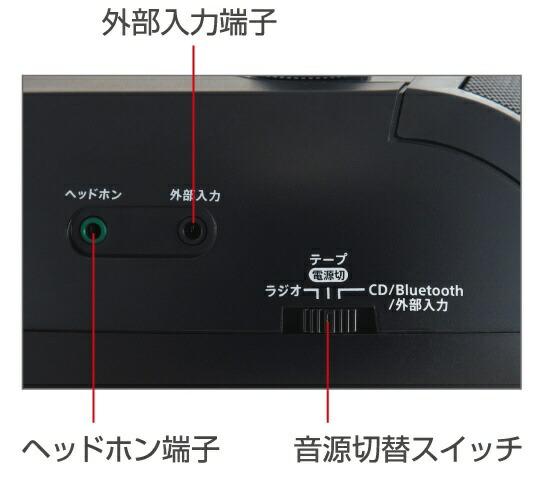 aiwaアイワ【ビックカメラグループオリジナル】BluetoothCDラジカセットレコーダーCSD-B50Bブラック[Bluetooth対応/ワイドFM対応/CDラジカセ][CSDB50]