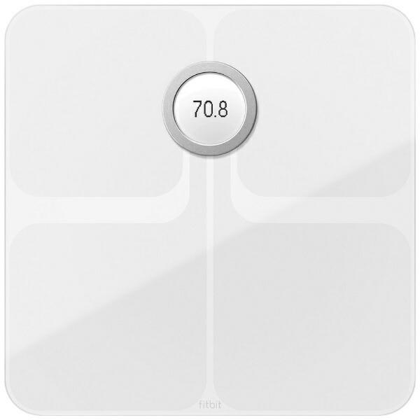 FitbitフィットビットFB202WT-JP体重計スマート体重計Aria2WiFi/Bluetooth対応ホワイト[デジタル][体重計体脂肪計スマホ連動FB202WTJP]