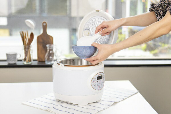 VIALEGREビアレグレ糖質カット炊飯器ホワイトVIRCL3AWT[3合][VIRCL3AWT]