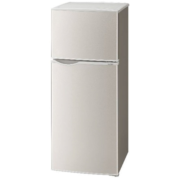 シャープSHARP冷蔵庫シルバー系SJ-H13E-S[2ドア/右開きタイプ/128L][冷蔵庫一人暮らしSJH13E]【zero_emi】