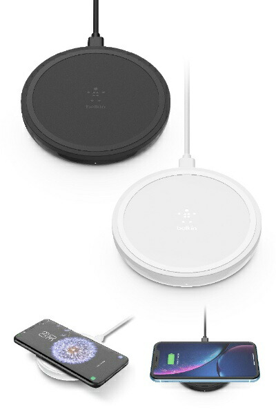 BELKINベルキンワイヤレス充電パッド(10W)ブラック(PSE)F7U082JCBLK[F7U082JCBLK]