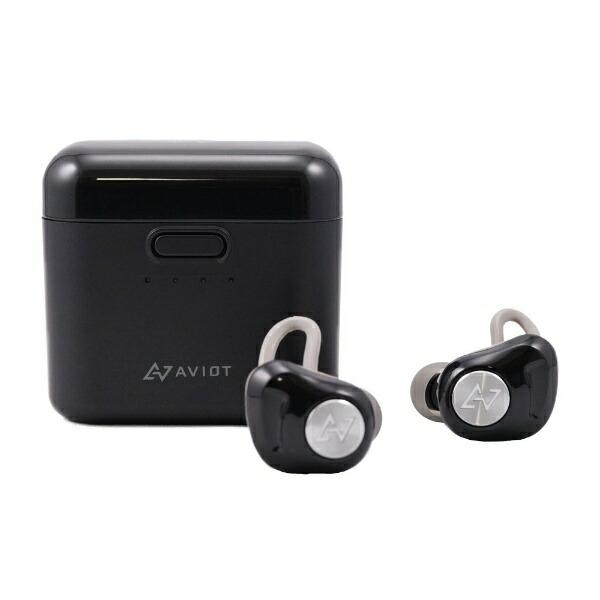 AVIOTフルワイヤレスイヤホンブラックTE-D01d-BK[リモコン・マイク対応/ワイヤレス(左右分離)/Bluetooth/ノイズキャンセリング対応/防滴][アビオットワイヤレスイヤホンTED01DBK]