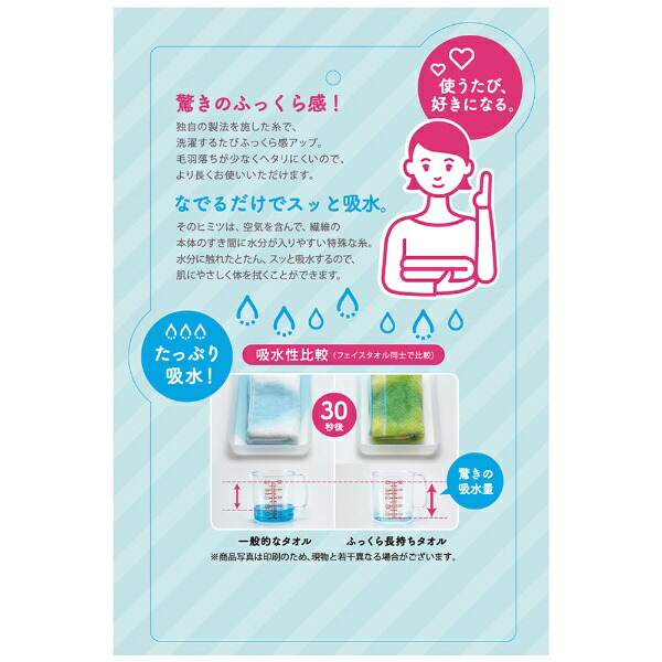 西川NISHIKAWA西川今治フェイスタオルふっくら長持ちミックスカラー(34×75cm/ブルー/日本製今治産)