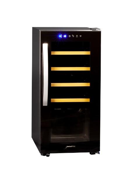 デバイスタイルdeviceSTYLE《基本設置料金セット》CF-C15W-Kワインセラーブラック[右開き][コンプレッサー式CFC15WK]