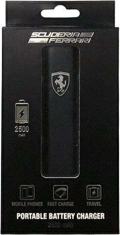 エアージェイair-JFEPBM12BBKモバイルバッテリーFerrariPortableBatteryChargerブラック[2500mAh/1ポート/充電タイプ]