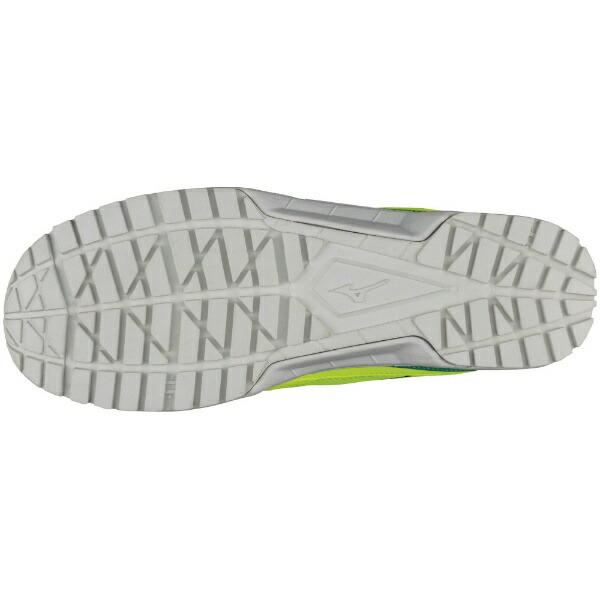 ミズノmizuno27.5cm靴幅:3E男女兼用安全靴MIZUNOWORKINGミズノ・オールマイティVS紐タイプ(イエロー×シルバー×グリーン)F1GA180345【JSAA・普通作業用(A種)認定品プロテクティブスニーカー】