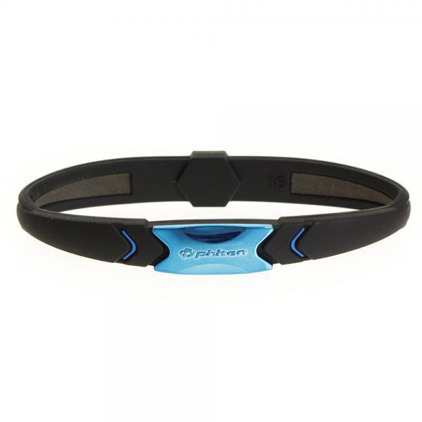 ファイテンPHITENRAKUWAブレスSプレートタイプ(メタリックブルー/18cm)0317TG735426