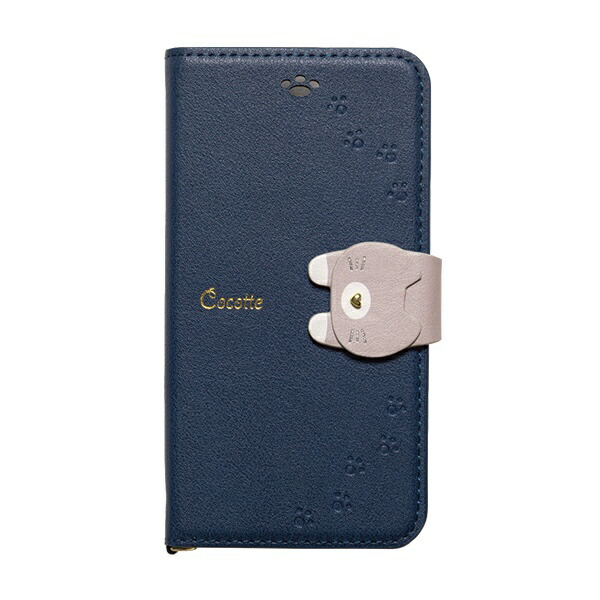 ナチュラルデザインNATURALdesigniPhone8/7/6s/6兼用手帳型ケースCocotteNavyiP7-COT06