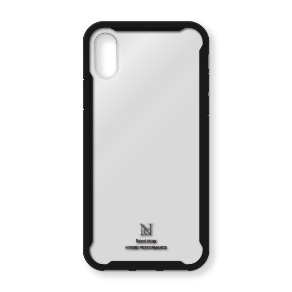 ナチュラルデザインNATURALdesigniPhoneXS/X専用衝撃吸収背面ケースHYBRIDPERFORMANCECLEAR/BLACKiP18_58-HYP09