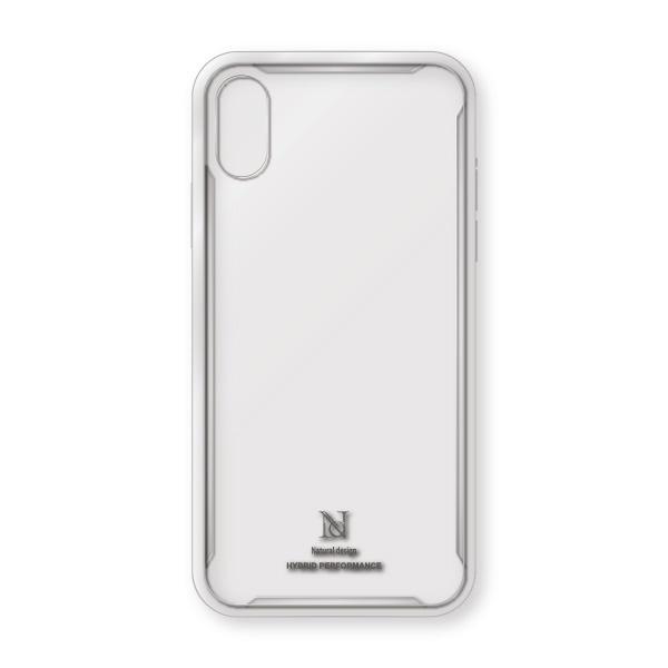 ナチュラルデザインNATURALdesigniPhoneXS/X専用衝撃吸収背面ケースHYBRIDPERFORMANCECLEARiP18_58-HYP10