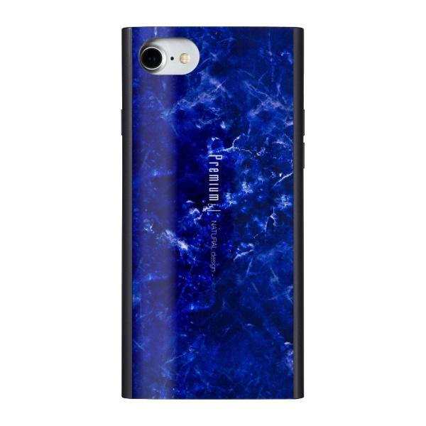 ナチュラルデザインNATURALdesigniPhone8/7/6s/6兼用背面ケースPremiumMarbleNavyiP7-PREIS03