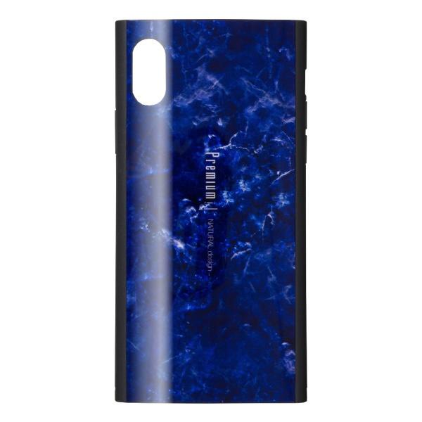 ナチュラルデザインNATURALdesigniPhoneXS/X専用背面ケースPremiumMarbleNavyiP18_58-PREIS03