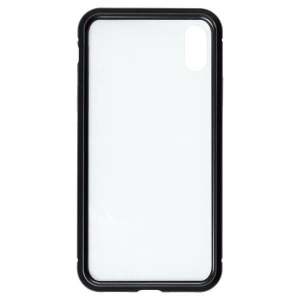 ナチュラルデザインNATURALdesigniPhoneXS/X専用背面繊維ガラス×アルミバンパーケースBlackiP18_58-MBP01