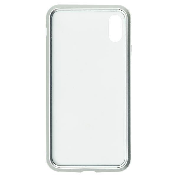 ナチュラルデザインNATURALdesigniPhoneXS/X専用背面繊維ガラス×アルミバンパーケースSilveriP18_58-MBP02