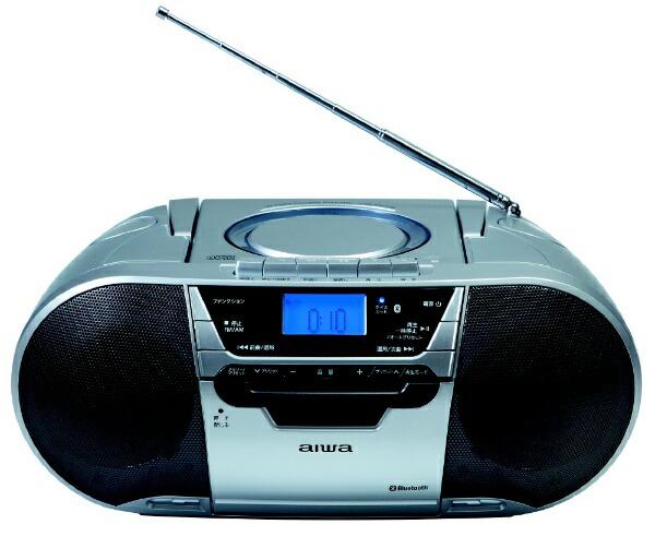 aiwaアイワCSD-MV20BCDラジオカセットレコーダー[Bluetooth対応/ワイドFM対応/CDラジカセ][ラジカセcdプレーヤーCSDMV20B]