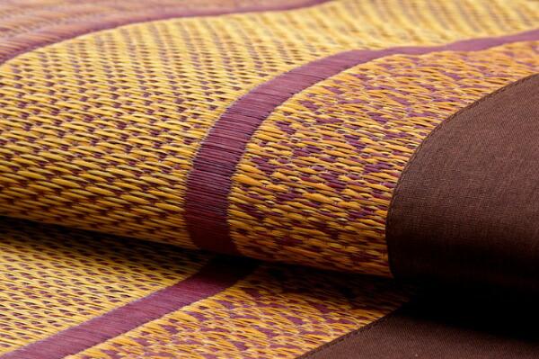 イケヒコIKEHIKOラグ国産い草ラグカーペット『ランクス』ワイン