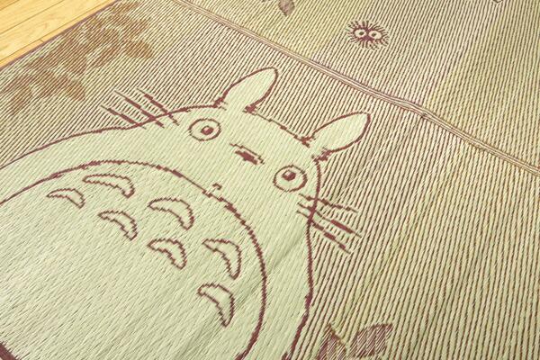 イケヒコIKEHIKO純国産となりのトトロい草ラグカーペット『F森のトトロ』