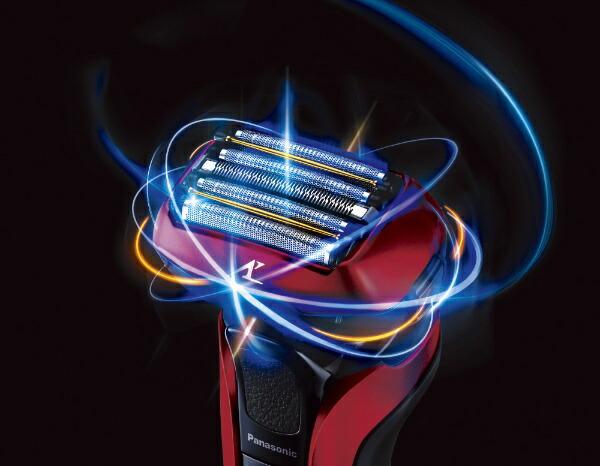 パナソニックPanasonicリニアシェーバーラムダッシュ5枚刃ES-CLV5E-R赤[5枚刃/国内・海外対応][電気シェーバー男性髭剃りESCLV5ER]