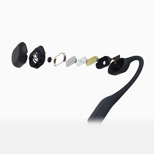 AfterShokzアフターショックスブルートゥースイヤホン耳かけ型AeropexコズミックブラックAFT-EP-000011[マイク対応/骨伝導/Bluetooth][骨伝導ワイヤレスイヤホン]